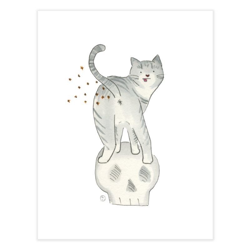 Kitty Sparkles Home Fine Art Print by Stephanie Inagaki