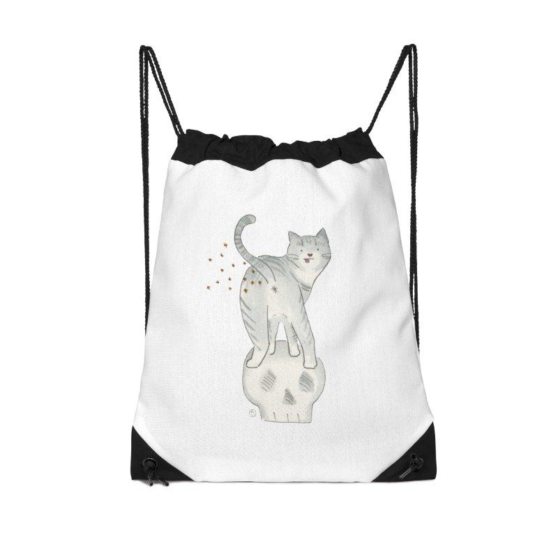 Kitty Sparkles Accessories Drawstring Bag Bag by Stephanie Inagaki