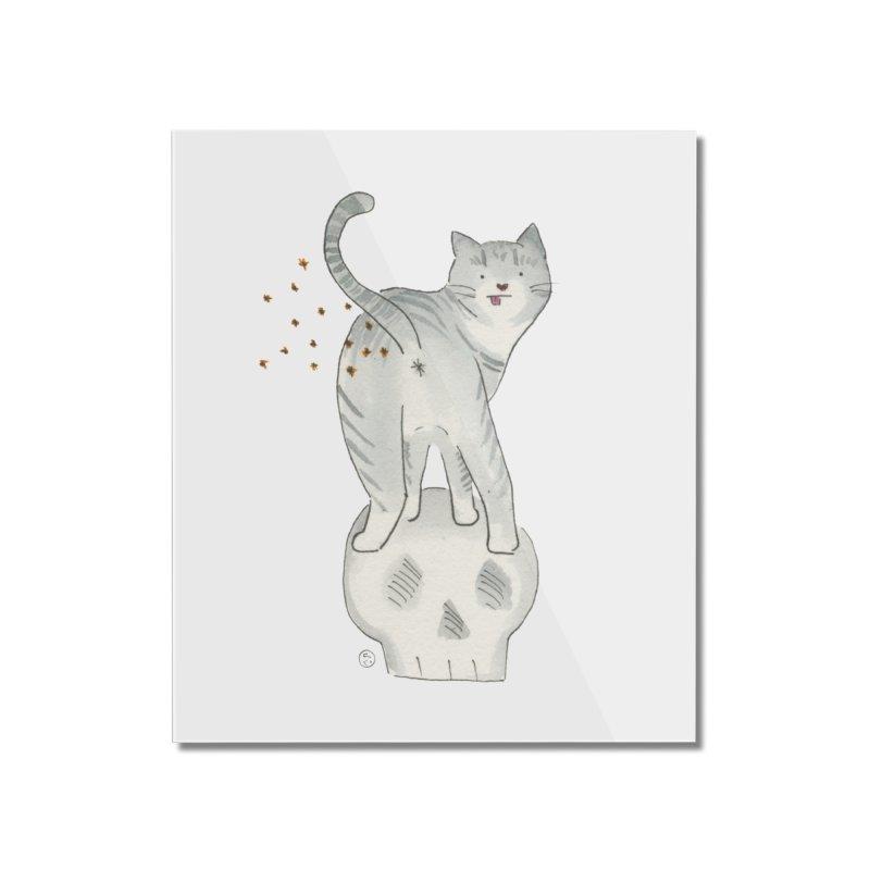 Kitty Sparkles Home Mounted Acrylic Print by Stephanie Inagaki