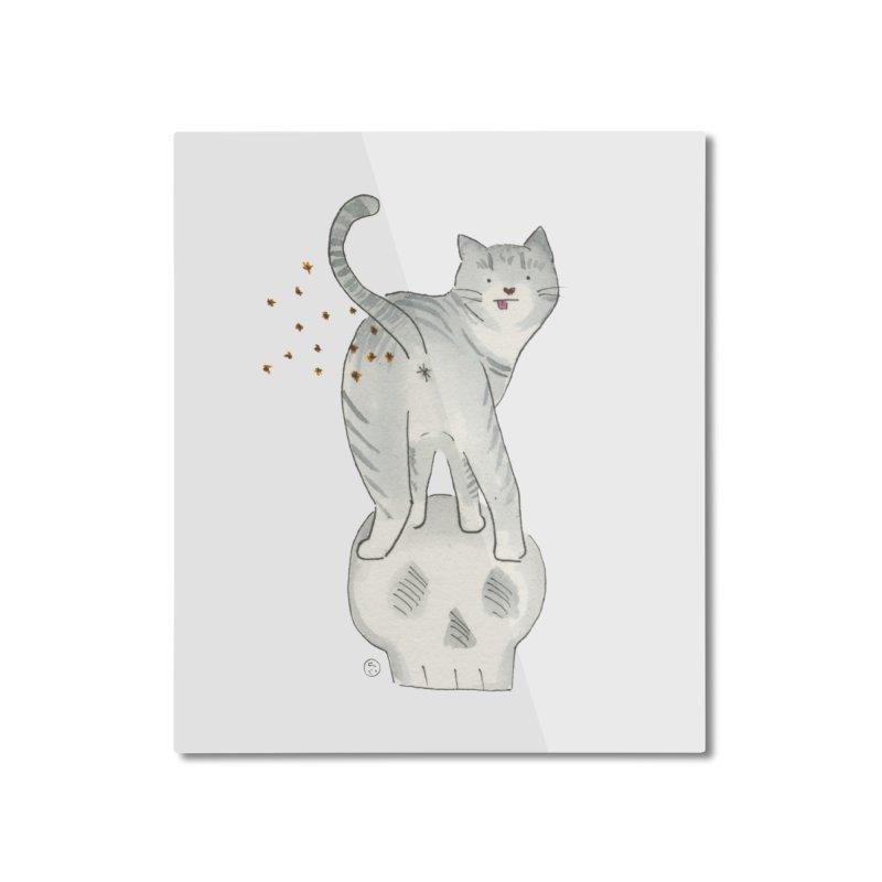 Kitty Sparkles Home Mounted Aluminum Print by Stephanie Inagaki