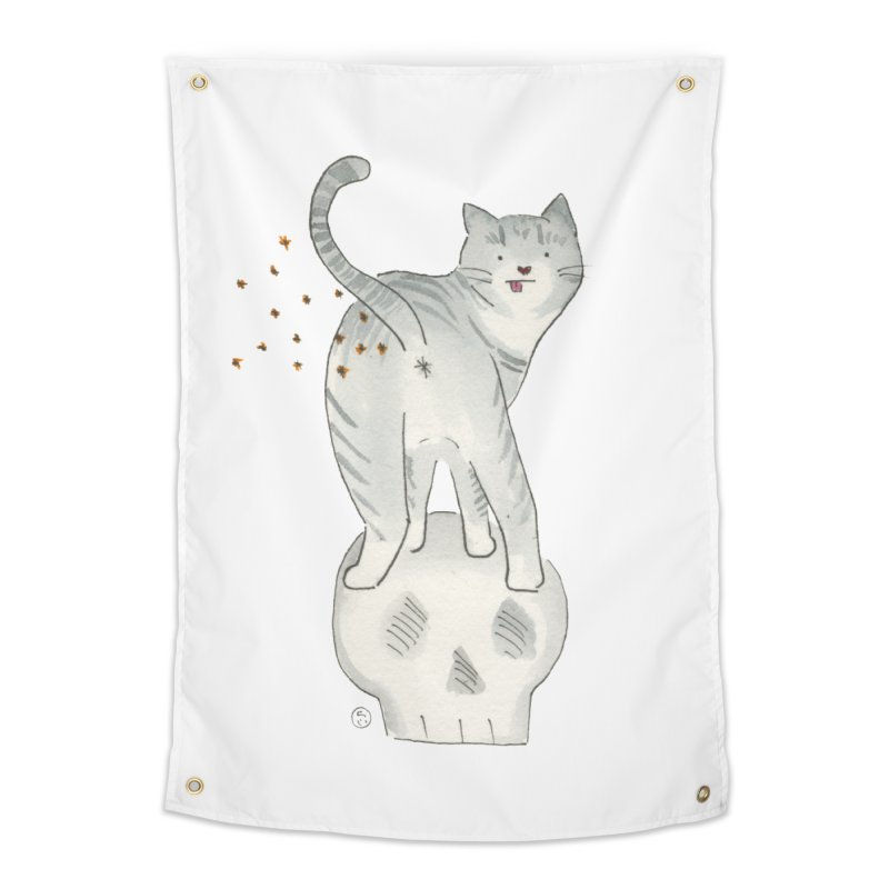 Kitty Sparkles Home Tapestry by Stephanie Inagaki