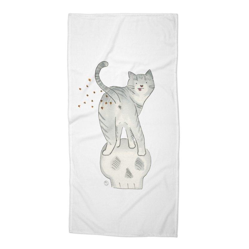 Kitty Sparkles Accessories Beach Towel by Stephanie Inagaki