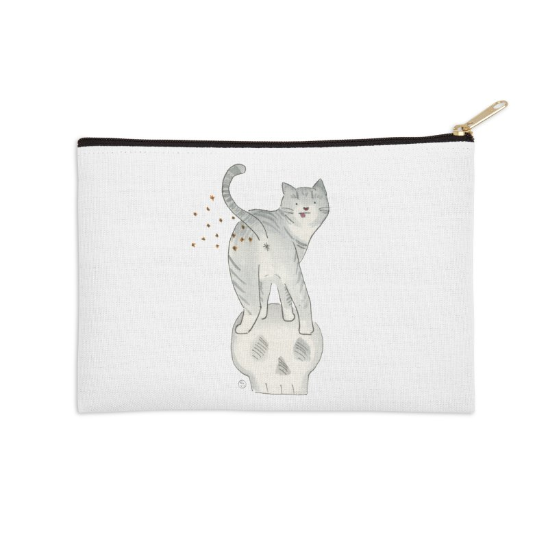 Kitty Sparkles Accessories Zip Pouch by Stephanie Inagaki