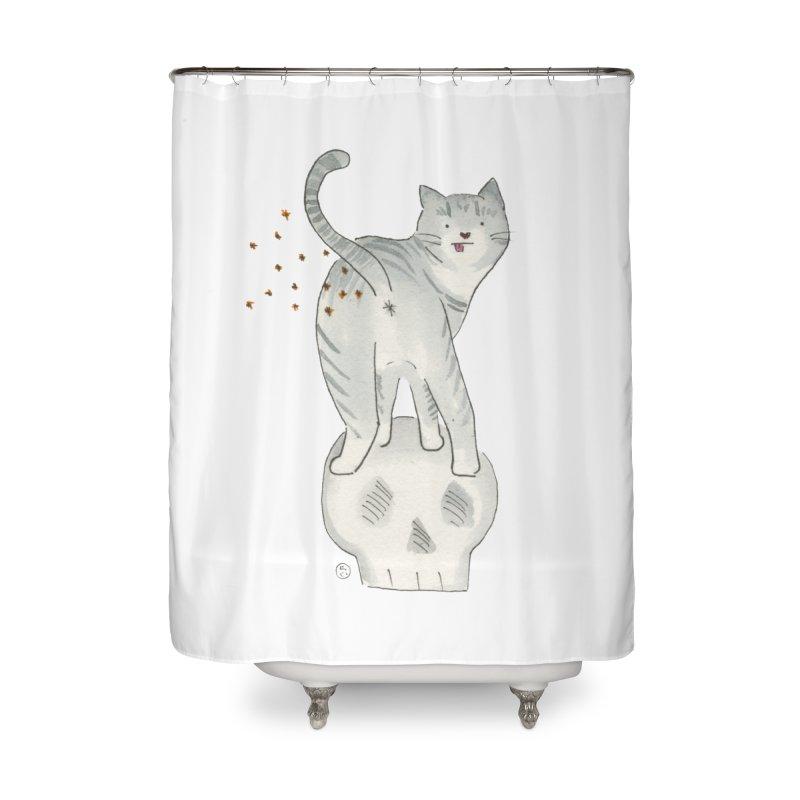 Kitty Sparkles Home Shower Curtain by Stephanie Inagaki