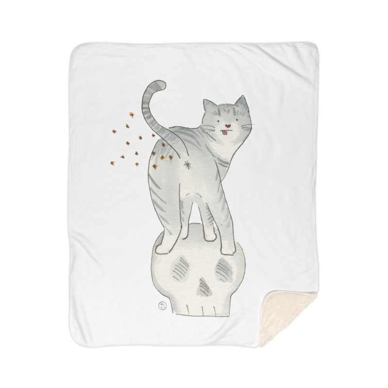 Kitty Sparkles Home Sherpa Blanket Blanket by Stephanie Inagaki