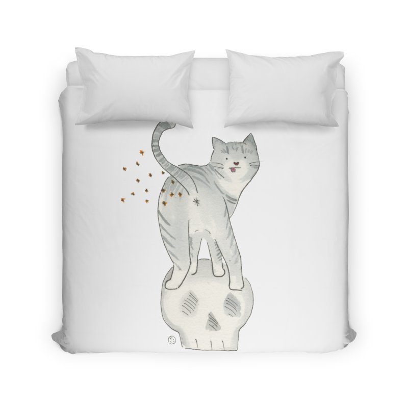 Kitty Sparkles Home Duvet by Stephanie Inagaki