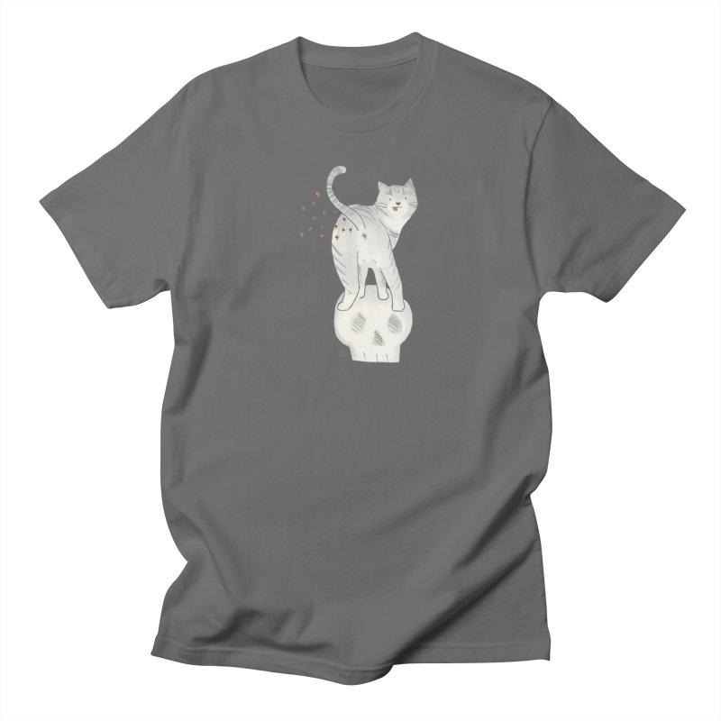 Kitty Sparkles Men's T-Shirt by Stephanie Inagaki