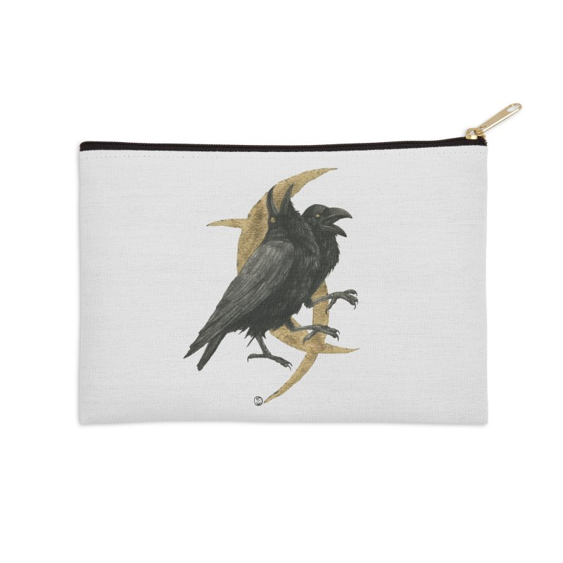 Twin Flames, Fated Hearts Accessories Zip Pouch by Stephanie Inagaki