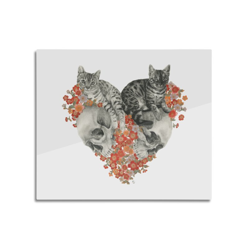 Sumie & Bizen Home Mounted Aluminum Print by Stephanie Inagaki