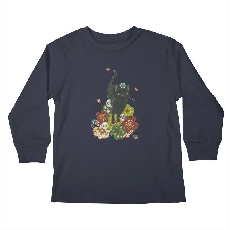 Blossoms Kids Longsleeve T-Shirt by Stephanie Inagaki
