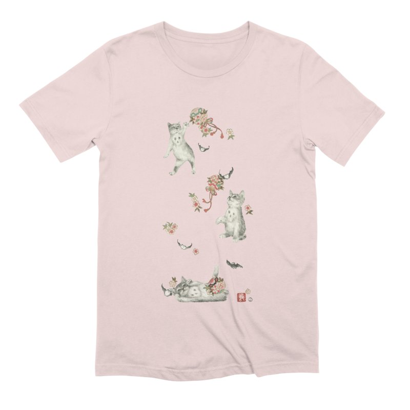 Kitten Play Men's T-Shirt by Stephanie Inagaki