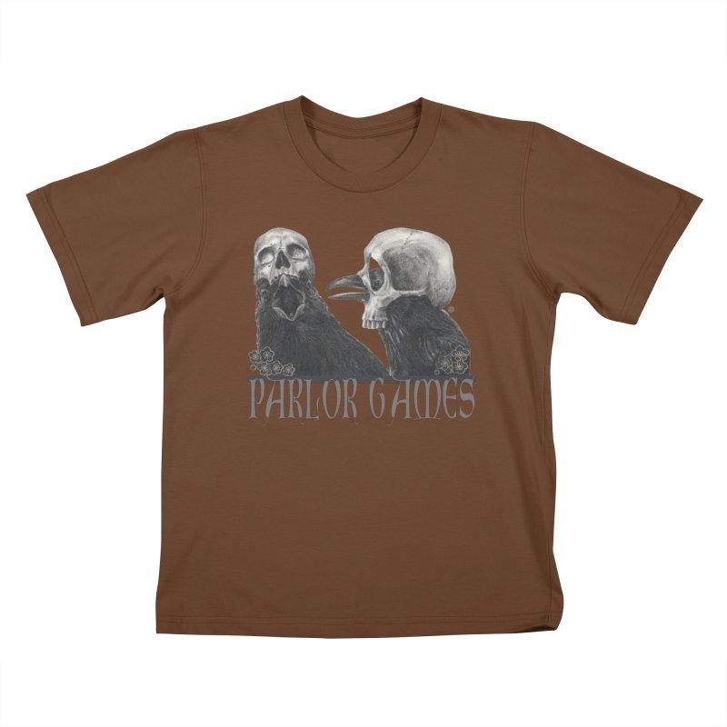 Parlor Games Kids T-Shirt by Stephanie Inagaki