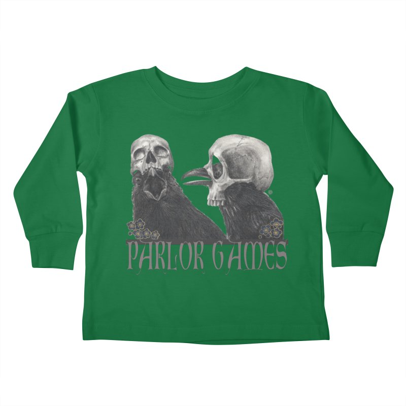 Parlor Games Kids Toddler Longsleeve T-Shirt by Stephanie Inagaki
