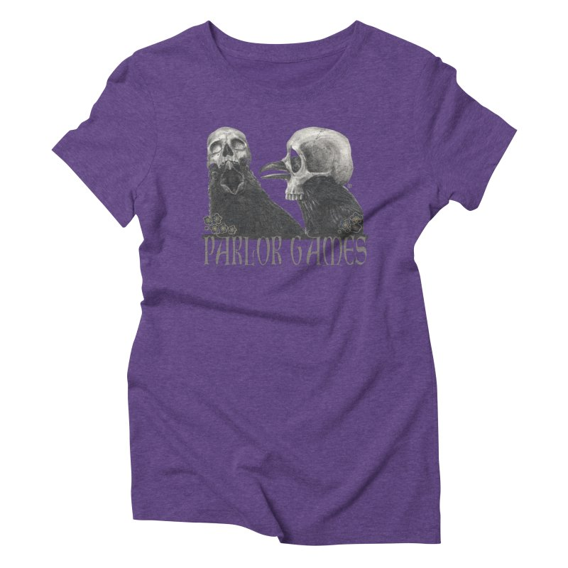Parlor Games Women's Triblend T-Shirt by Stephanie Inagaki