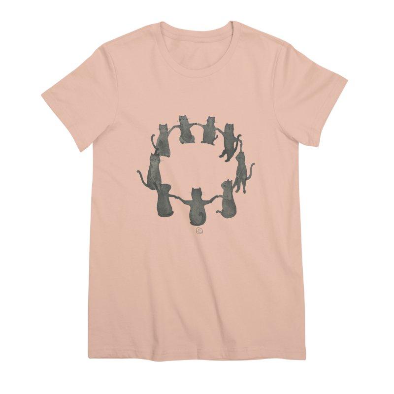 Kitty Coven Women's Premium T-Shirt by stephanieinagaki's Artist Shop