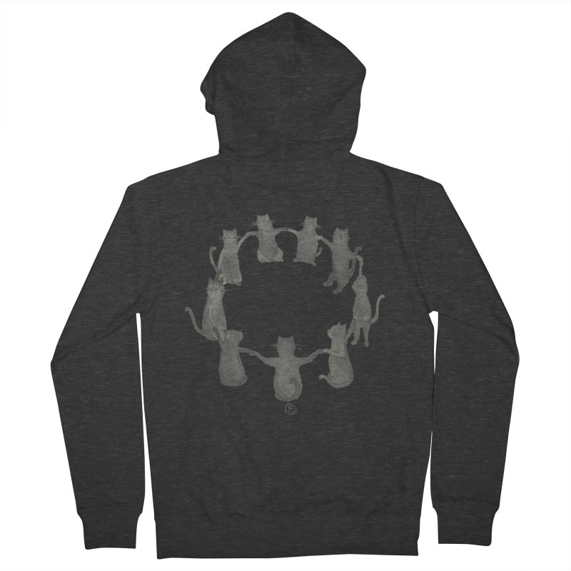 Kitty Coven Men's French Terry Zip-Up Hoody by Stephanie Inagaki