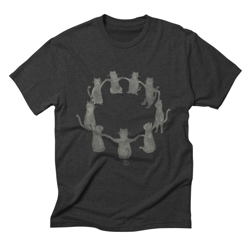 Kitty Coven Men's Triblend T-Shirt by Stephanie Inagaki