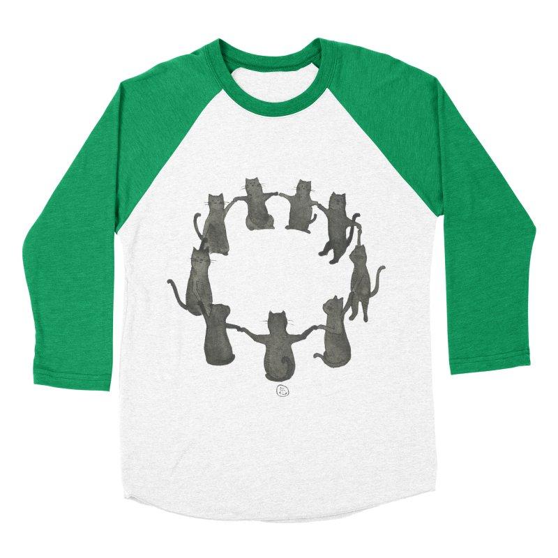 Kitty Coven Women's Baseball Triblend Longsleeve T-Shirt by Stephanie Inagaki