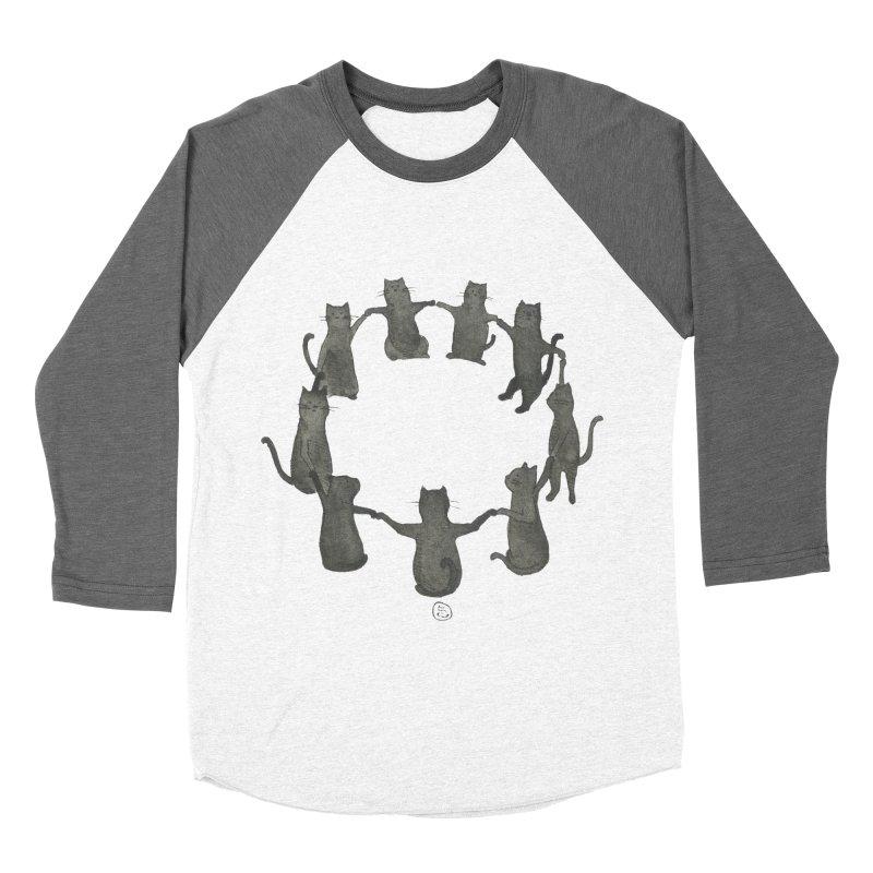 Kitty Coven Men's Baseball Triblend Longsleeve T-Shirt by Stephanie Inagaki