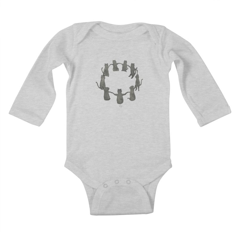 Kitty Coven Kids Baby Longsleeve Bodysuit by Stephanie Inagaki