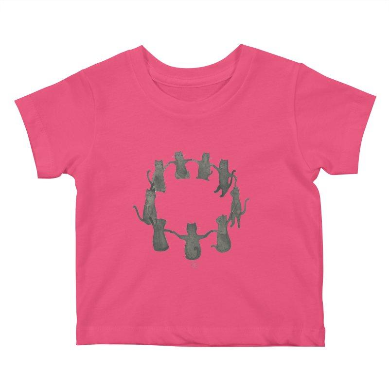 Kitty Coven Kids Baby T-Shirt by Stephanie Inagaki