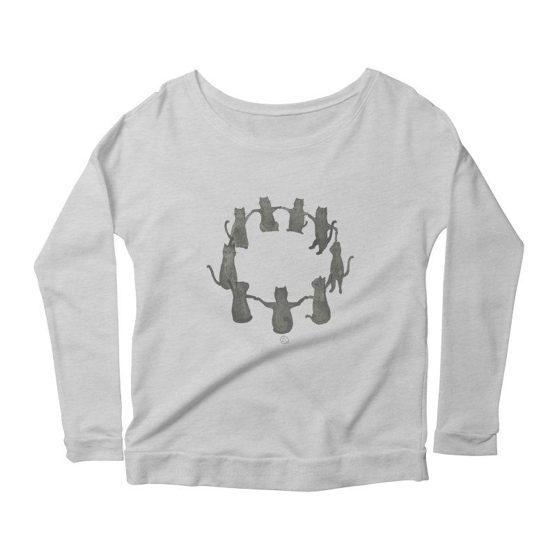 Kitty Coven Women's Scoop Neck Longsleeve T-Shirt by Stephanie Inagaki