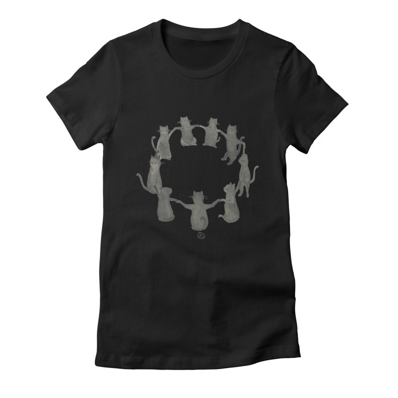 Kitty Coven Women's Fitted T-Shirt by Stephanie Inagaki
