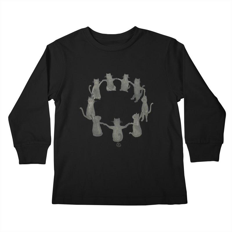 Kitty Coven Kids Longsleeve T-Shirt by Stephanie Inagaki