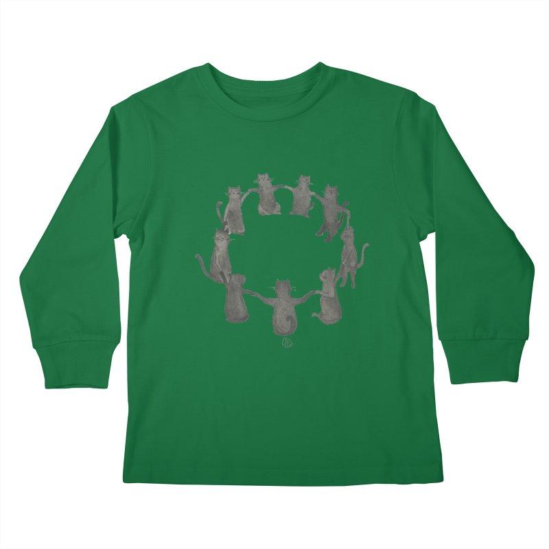Kitty Coven Kids Longsleeve T-Shirt by stephanieinagaki's Artist Shop