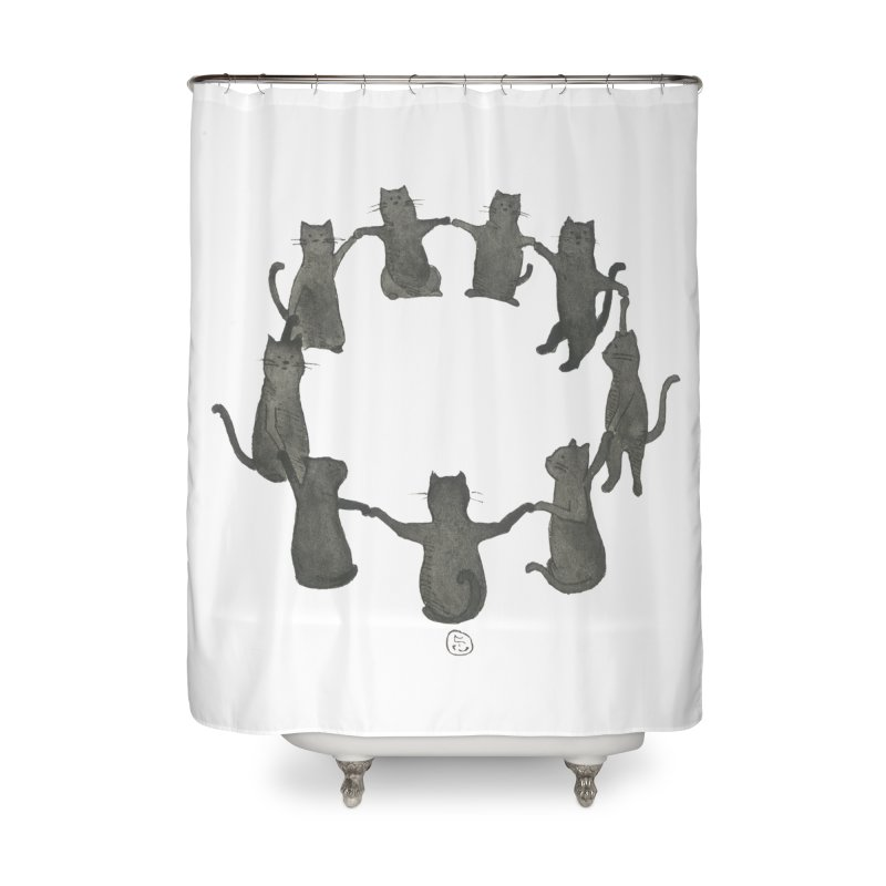 Kitty Coven Home Shower Curtain by Stephanie Inagaki