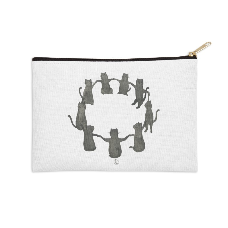Kitty Coven Accessories Zip Pouch by Stephanie Inagaki