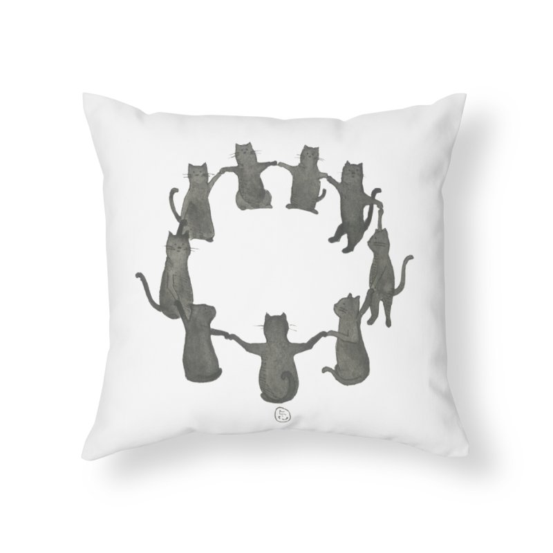 Kitty Coven Home Throw Pillow by Stephanie Inagaki