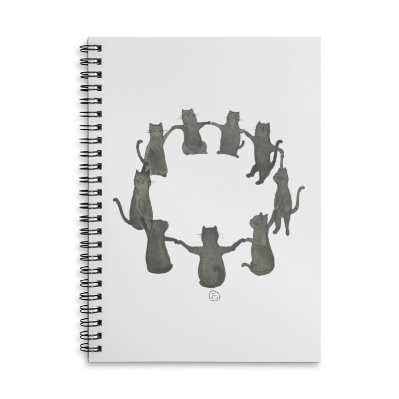 Kitty Coven Accessories Lined Spiral Notebook by Stephanie Inagaki
