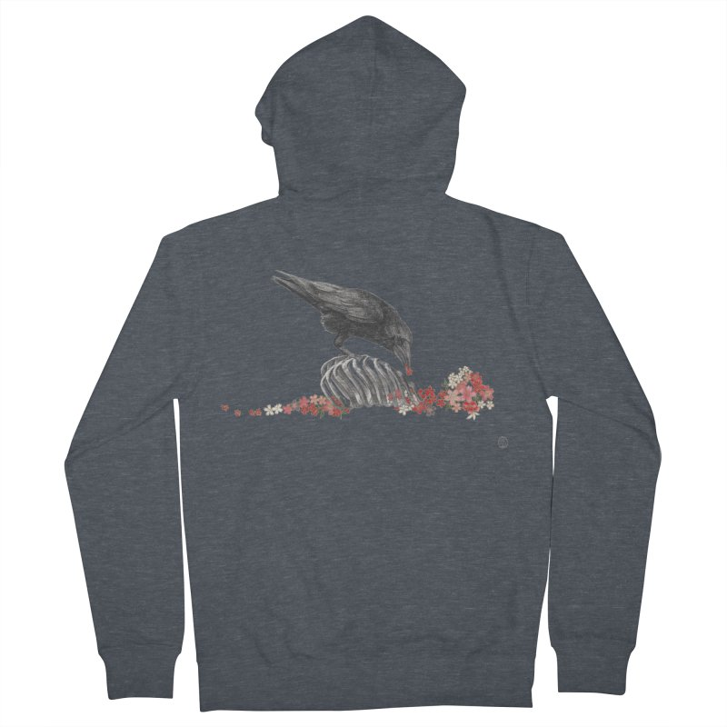 The Bloodflower Crossroads Men's French Terry Zip-Up Hoody by Stephanie Inagaki