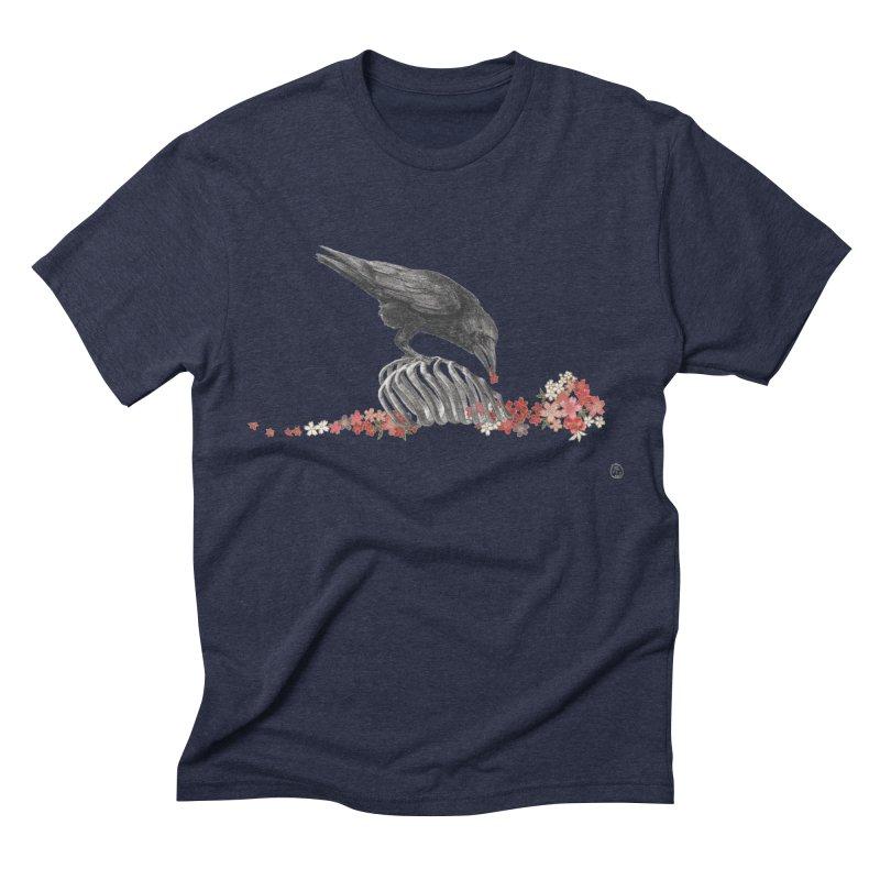 The Bloodflower Crossroads Men's Triblend T-Shirt by Stephanie Inagaki