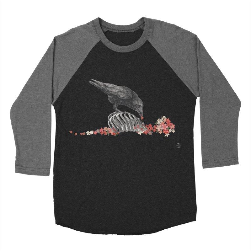 The Bloodflower Crossroads Men's Baseball Triblend Longsleeve T-Shirt by Stephanie Inagaki