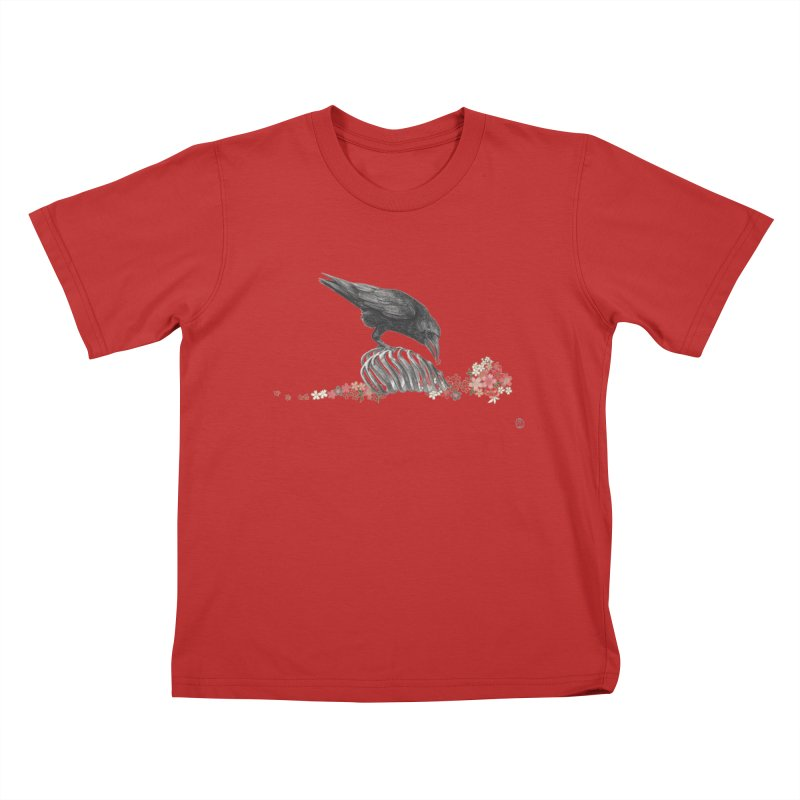 The Bloodflower Crossroads Kids T-Shirt by Stephanie Inagaki