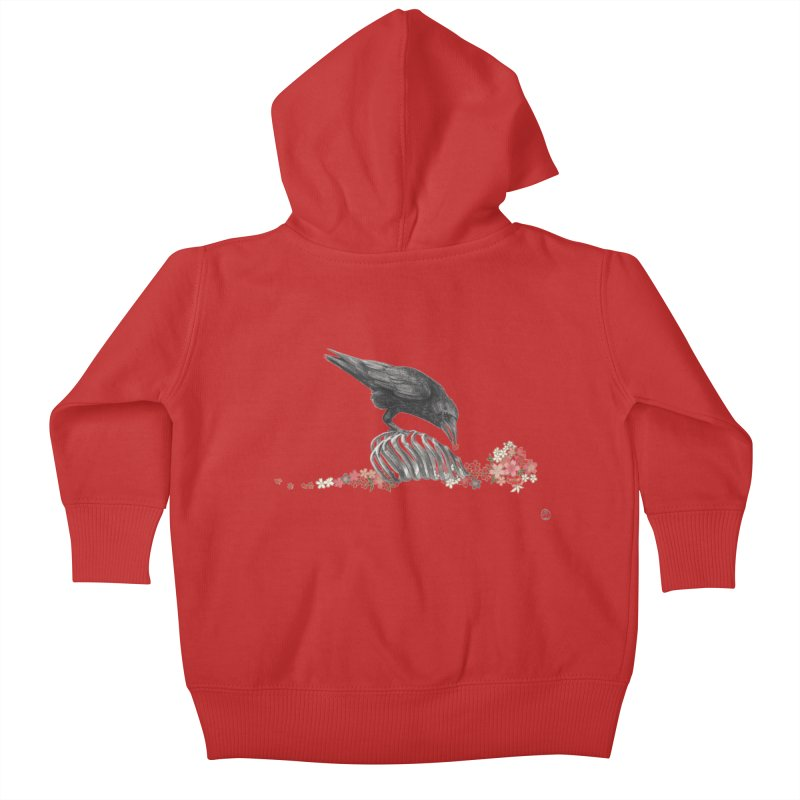 The Bloodflower Crossroads Kids Baby Zip-Up Hoody by Stephanie Inagaki