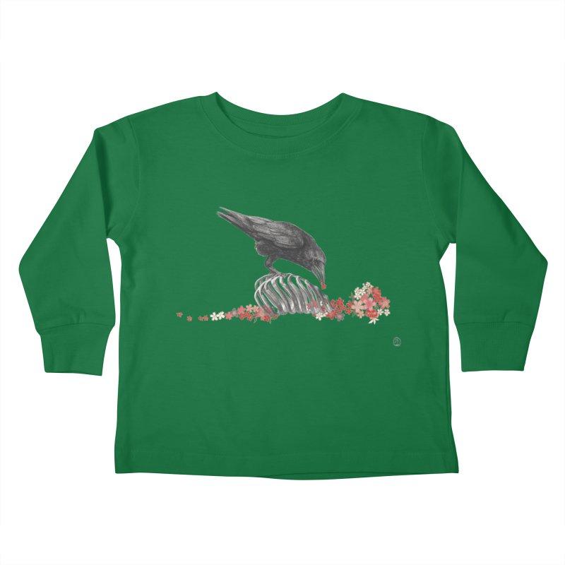 The Bloodflower Crossroads Kids Toddler Longsleeve T-Shirt by Stephanie Inagaki