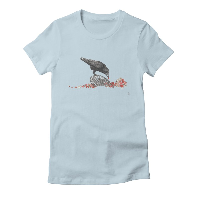 The Bloodflower Crossroads Women's Fitted T-Shirt by Stephanie Inagaki