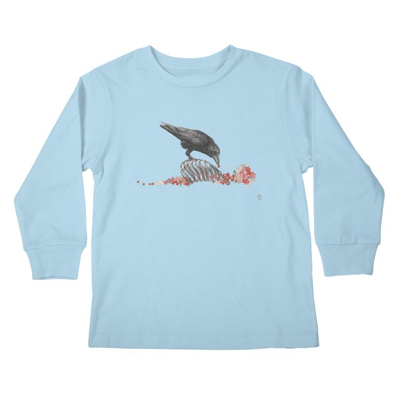 The Bloodflower Crossroads Kids Longsleeve T-Shirt by Stephanie Inagaki