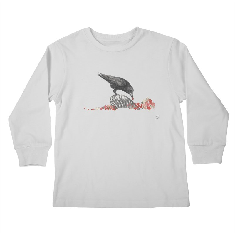 The Bloodflower Crossroads Kids Longsleeve T-Shirt by Stephanie Inagaki