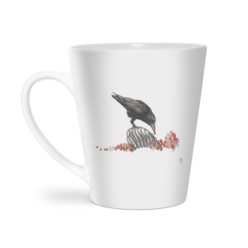 The Bloodflower Crossroads Accessories Latte Mug by Stephanie Inagaki