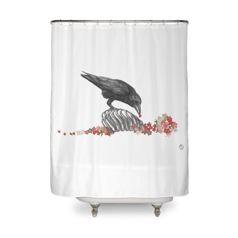 The Bloodflower Crossroads Home Shower Curtain by Stephanie Inagaki