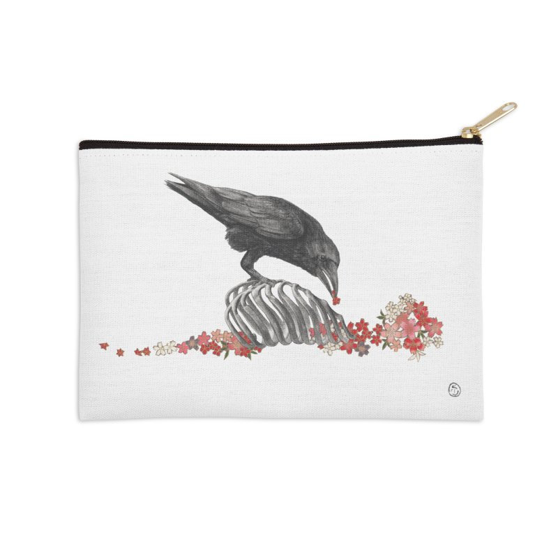 The Bloodflower Crossroads Accessories Zip Pouch by Stephanie Inagaki