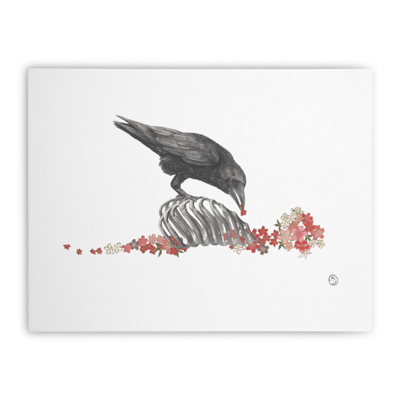 The Bloodflower Crossroads Home Stretched Canvas by Stephanie Inagaki