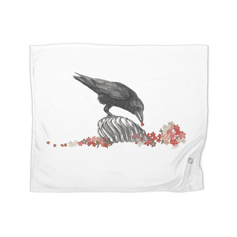 The Bloodflower Crossroads Home Fleece Blanket Blanket by Stephanie Inagaki