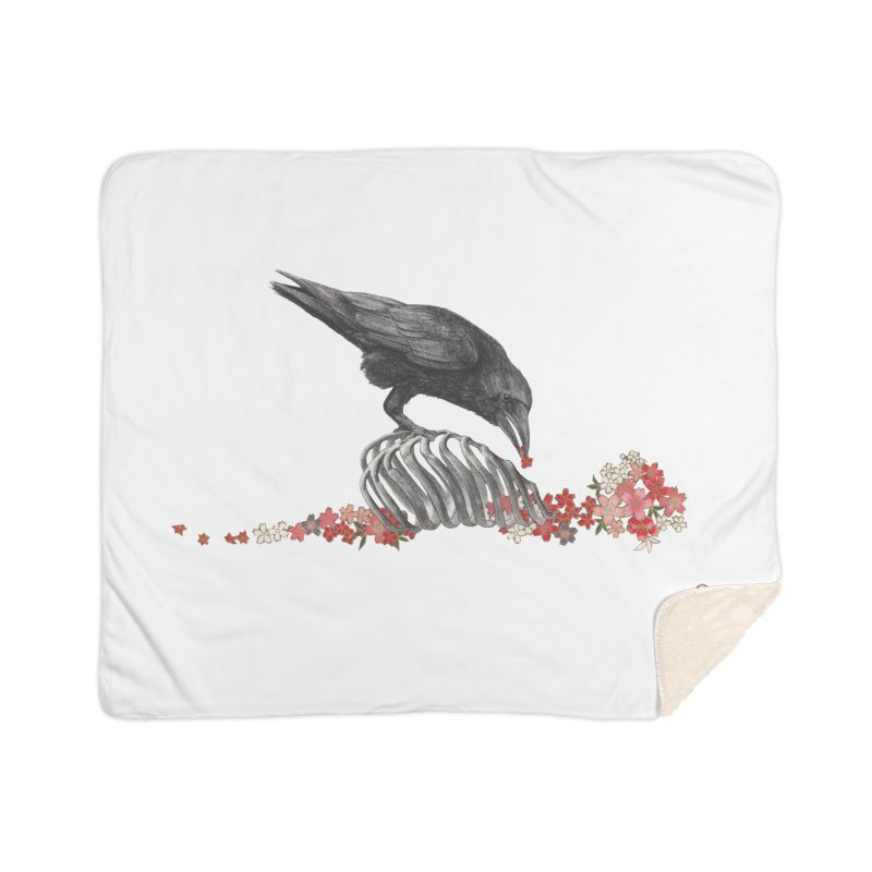 The Bloodflower Crossroads Home Sherpa Blanket Blanket by Stephanie Inagaki
