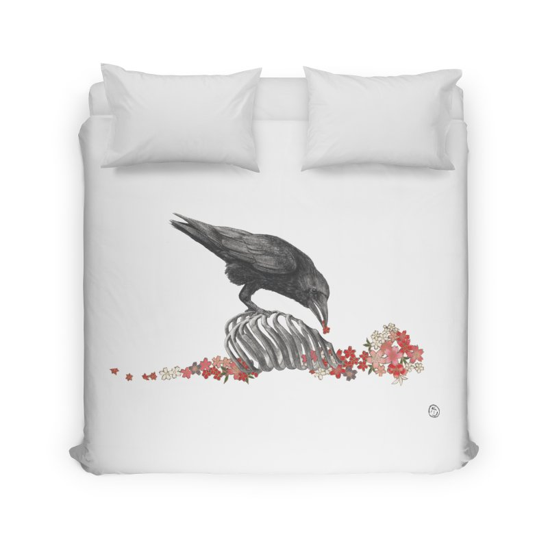 The Bloodflower Crossroads Home Duvet by Stephanie Inagaki