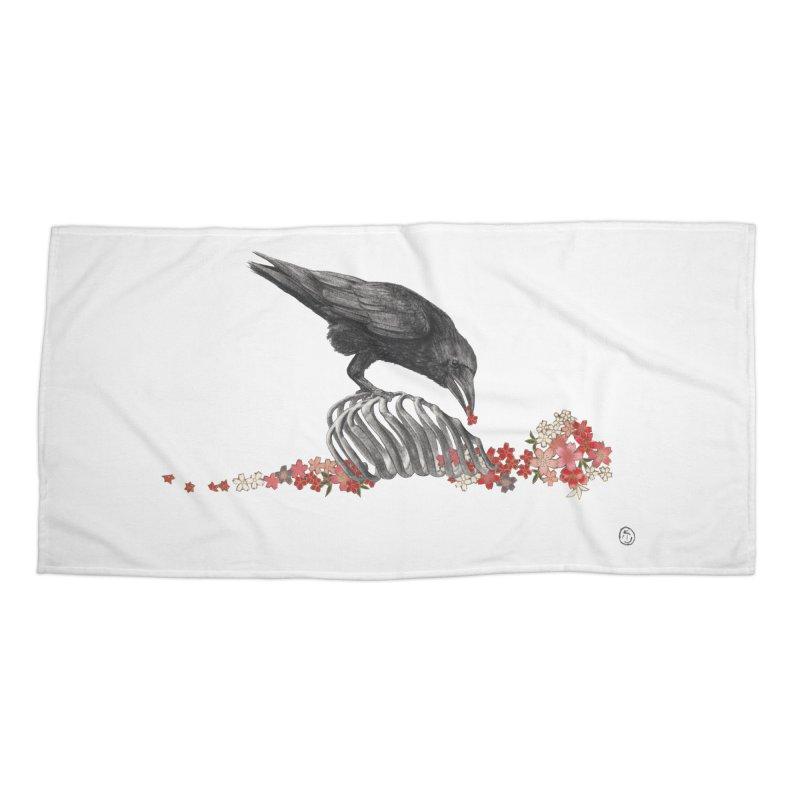 The Bloodflower Crossroads Accessories Beach Towel by stephanieinagaki's Artist Shop